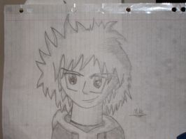 anime character sketch edited by OliBons