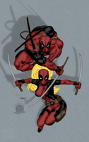 Lord and Lady Deadpool by blackmoonrose13