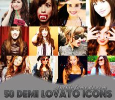 50 Demi Lovato Icons! by stuckinfame