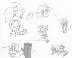 Sonic The hedgehog In The 90's by MatildaTheMoonwolf