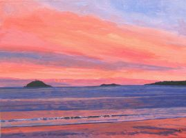 Sunset View of Ballycotton by eastcorkpainter