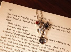Silver Doe Always Charmed Necklace by kittykat01