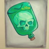Skull In The Bottle by Fhanell