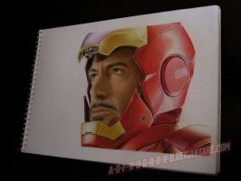 tony stark on paper by A-D-I--N-U-G-R-O-H-O