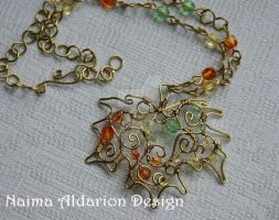 Maple Leaf necklace by NaimaAldarion