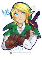 Link + Navi Sticker by Helixel