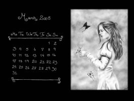 March 2008 Calendar by Zindy