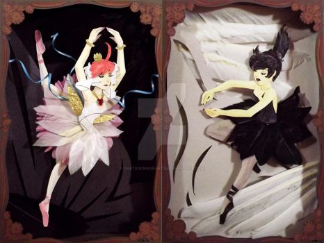 Paper Princess Tutu and Kraehe by thetickinghearts
