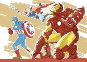 The Avengers Trinity by adventuresofp2