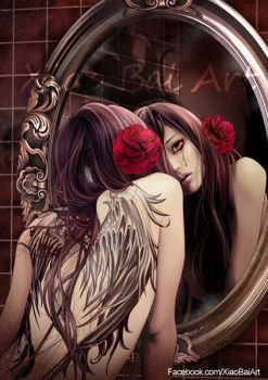 Caution of the mirror by XiaoBaiArt