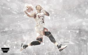Derrick Rose 'Chicago' Wallpaper by AMMSDesings