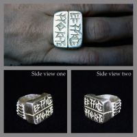 Code of Hammurabi Silver Ring by sapphiresphinx