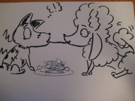 Lady and the Tramp Frankenweenie Style by kibadoglover45