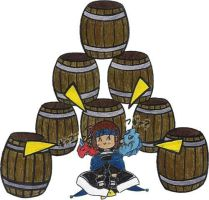 Ashton and his barrels... by jamuko