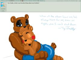 Ask the Fazbear Brothers Question 3 by shamira-g