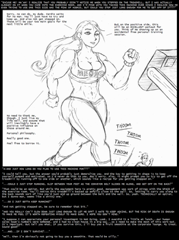 Gym Giantess by Saxxon