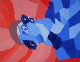 Cubist Self Portrait by Paranormallity