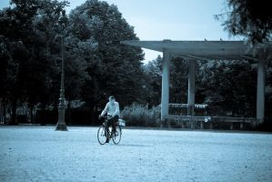 Man on bicycle by m8t