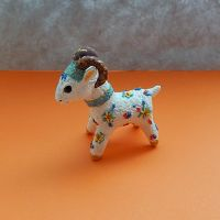 Figurine sheep of modelling clay,ram sculpture by koshka741