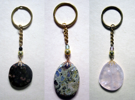 Polished Stone Keychains by BloodRed-Orchid
