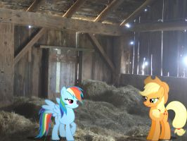 Two mares in a barn by HAchaosagent