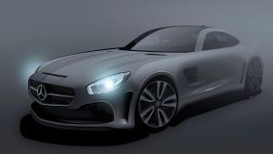 Mercedes GT Black by Bostaddesign