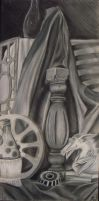 charcoal still life by littlemissysg