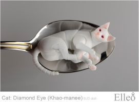 Khao-manee Cat Bjd 15 by leo3dmodels