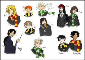 Insaneography at Hogwarts by Inonibird