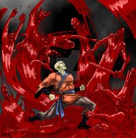 Color Commission - 305Chang's Killermonk Red Rain by Onore-Otaku