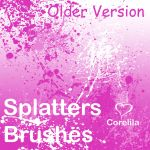 Splatters Brushes version 1.5 by corelila