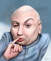 Dr. Evil caricature by Matija5850