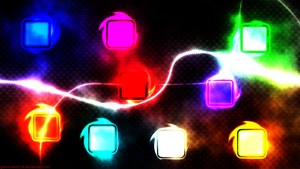 Neon Blocks Wallpaper by Game-BeatX14