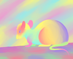 rainbow rodent by Squeekleen2