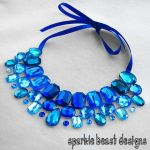 Blue Rhinestone Collar by Natalie526
