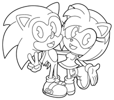 Sonic And Amy by sonictopfan
