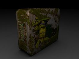 TMNT Tin Lunch Box diffuse by xXMawZXx