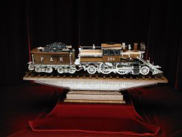 Master Carving of Reading Railroad Locomotive by SteamRailwayCompany