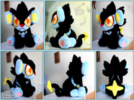 Big Cutie-Eyed Luxray Plush! by xBrittneyJane