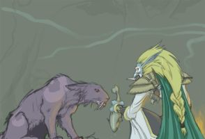 WoW fanarts - Druid and Priest by kiwifluff