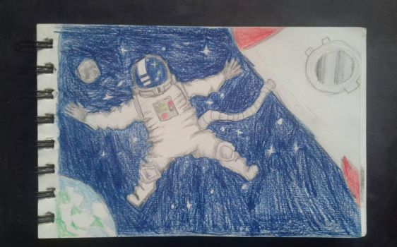 Daily Drawing #4 Space Journey  by GniewoszPlamisty