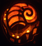 Consult the Helix Fossil Pumpkin by johwee