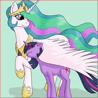 Celestia and Twilight by MagistrB