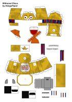 five nights at freddy's 2 old chica papercraft pt1 by Adogopaper