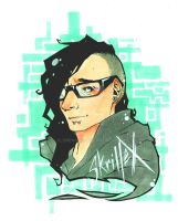 My Name is Skrillex by xLuneNoire