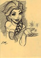 Elsa Charcoal Rough by em-scribbles