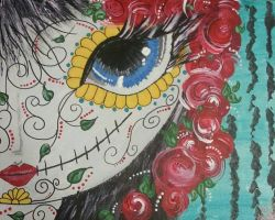 Day of the Dead Female by PrincessFirecracker