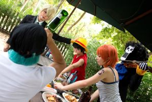 Mealtime with the Strawhat crew by jlrave