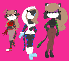(PC) .:.The Three Cat Sister.:. by CottonCatTailToony