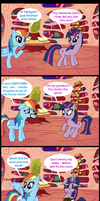 Rainbow makes Twilight Crazy by MidnightQuill